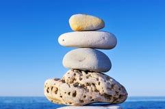 Het in evenwicht brengen van Stapel Stock Foto