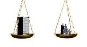 Het in evenwicht brengende werk en familie Stock Foto's
