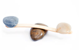 Het evenwicht van stenen Stock Afbeelding