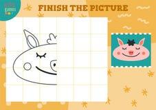 Het exemplaar en voltooit het beeld vector lege spel stock illustratie