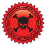 Het exemplaaretiket van de piraat Stock Foto