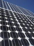 Het exemplaarruimte van zonnepaneel photovoltaic cellen Royalty-vrije Stock Foto