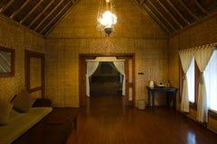 Het exotische binnenland van de bamboehut Royalty-vrije Stock Foto
