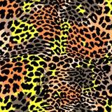 Het exotische naadloze patroon van de manierluipaard stock illustratie