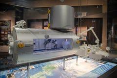 Het experiment toont ruimte van Planetarium stock foto