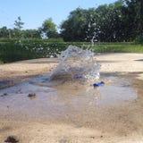 Het exploderen waterballoon Royalty-vrije Stock Foto's