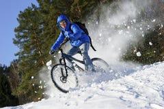 Het extreme de winter cirkelen stock foto