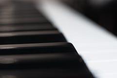 Het extreme dichte omhooggaande detail van het muziektoetsenbord Royalty-vrije Stock Foto's