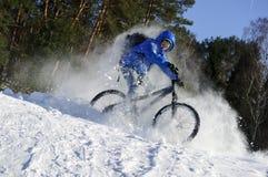 Het extreme fietser berijden royalty-vrije stock afbeelding