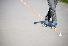 Het extreme rollerblading Stock Fotografie