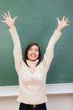 Het Exuberant aantrekkelijke jonge student verheugen zich Stock Foto