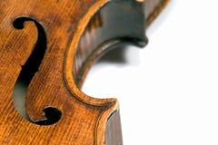 Het F-gat van de viool Stock Foto's