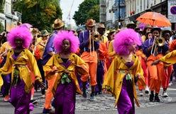 Het fanfarekorps van Carnaval Stock Foto's