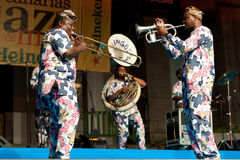 Het Fanfarekorps van Gangbe Royalty-vrije Stock Fotografie