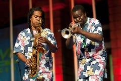 Het fanfarekorps van Gangbe Royalty-vrije Stock Foto's