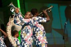 Het Fanfarekorps van Gangbe Stock Fotografie