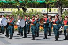 Het fanfarekorps van het Kremlin stock afbeelding