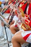 Het Fanfarekorps van het meisje Royalty-vrije Stock Afbeeldingen