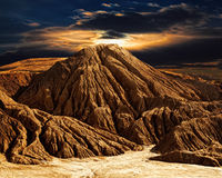 Het fantastische landschap van de woestijnberg Stock Foto