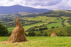 Het fantastische landschap van het dagplatteland Royalty-vrije Stock Afbeeldingen