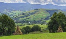 Het fantastische landschap van het dagplatteland Stock Foto