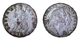 Het farthing van William en van Mary Royalty-vrije Stock Fotografie