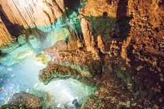Het fascineren natuurlijke wonder van Luray Caverns stock afbeelding