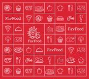 Het favoriete Abstracte Vectorembleem van de Voedsellevering stock illustratie