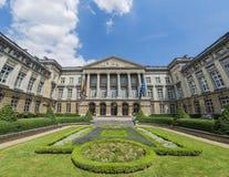 Het federale Parlement van België in Brussel stock foto's
