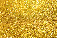 Het feestelijke goud schittert achtergrond Stock Foto