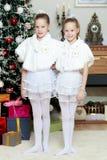 Het feestelijke meisjes koesteren Royalty-vrije Stock Foto