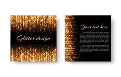 Het feestelijke pamflet met schittert Stock Foto