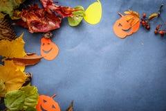 Het feestelijke stilleven van Halloween stock foto's