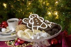 Het feestelijke voedsel van Kerstmis Stock Foto's