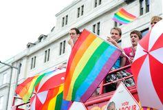 Het Festival 2010 van de Trots van Dublin LGBTQ Royalty-vrije Stock Fotografie