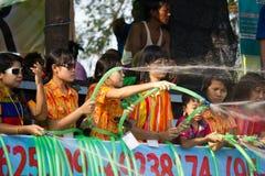 Het Festival 2012 van het water in Mandalay, Myanmar Stock Afbeeldingen