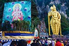 Het Festival 2012 van Thaipusam: Toewijding Royalty-vrije Stock Foto