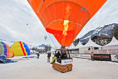 Het Festival 2012, Zwitserland van de Ballon van de hete Lucht Stock Foto