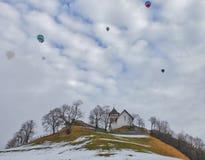 Het Festival 2012, Zwitserland van de Ballon van de hete Lucht Royalty-vrije Stock Afbeeldingen