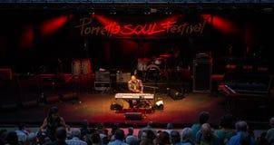 Het Festival dertigste uitgave van de Porrettaziel, Porretta Terme 20 tot 23 Juli Royalty-vrije Stock Afbeelding