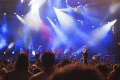 Het Festival Novi Sad Servië van de uitgangsmuziek Royalty-vrije Stock Fotografie