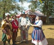 Het festival Tamper, de groep van de renaissance van FL van 4 Stock Foto's