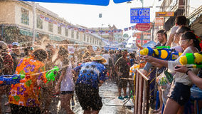 Het Festival van Bangkok Songkran stock fotografie