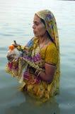 Het Festival van Chatt in India stock foto