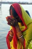 Het Festival van Chatt in India stock foto's