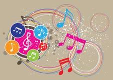 Het festival van de achtergrond muziek ontwerp Stock Foto