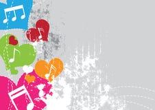 Het festival van de achtergrond muziek ontwerp Royalty-vrije Stock Afbeeldingen