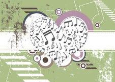 Het festival van de achtergrond muziek ontwerp Stock Afbeelding