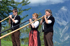 Het Festival van de Alpenhoorn royalty-vrije stock foto