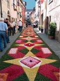 Het festival van de bloem, domine van het Corpus, Brugnato Italië Stock Fotografie